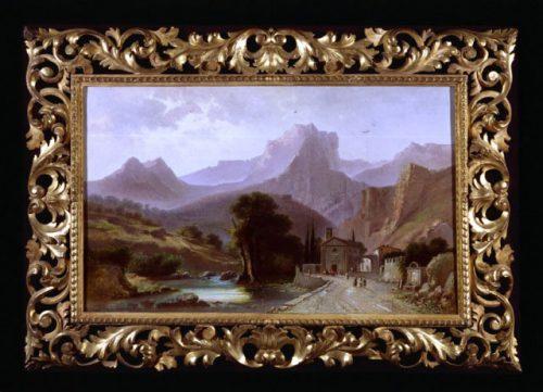 Agostino Fossati - (1830-1904) - Fornetto a Serravezza'  - Canvas