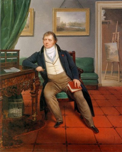 Alexandre-Francois-Louis De Girardin - (1777-1848) - The Artist and his Interior - Canvas