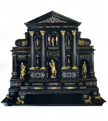 Augsburg Cabinet - c.a 1580-1600 -  - Size: 93 x 101 x 58 cm