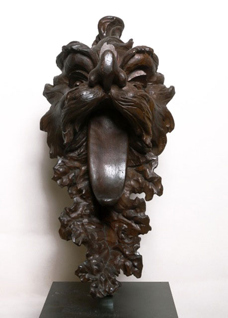 Circle of Andrea Brustolon - (1662-1737) - Grotesque Head - Wood