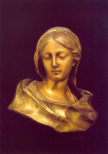 Francois Duquesnoy - (1594-1643) - The Virgin - Gilt bronze