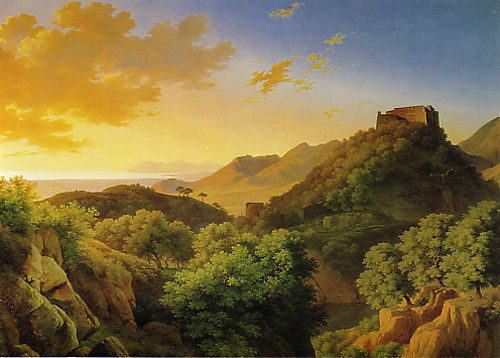 Franz Kucera - (1807 - ? ) - Massa Castle - Oil on canvas