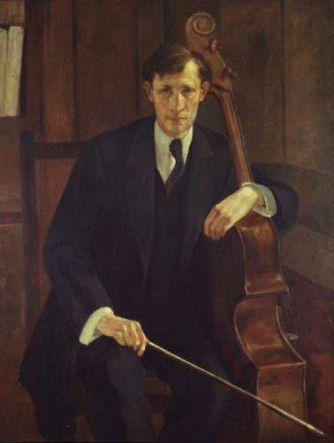 German School - (c.1920) - Portrait of a Musician - Canvas