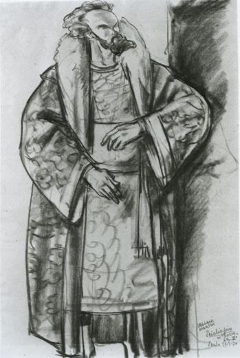 Mario Vellani Marchi - (1895-1979) - Feodor Chaliapin In Boris Godunov'