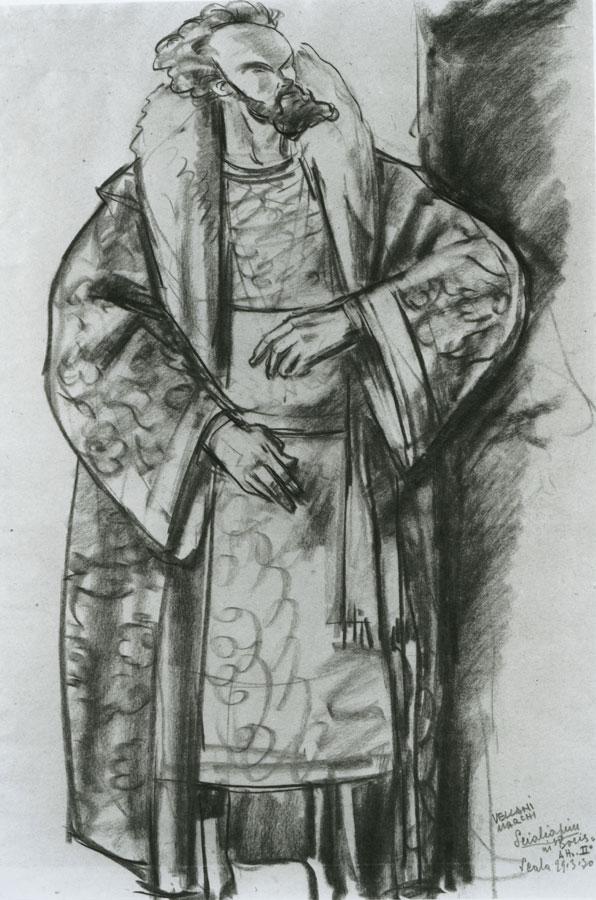 Mario Vellani Marchi - Feodor Chaliapin in Boris Godunov (La Scala