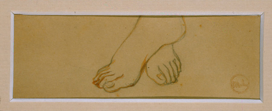 Mikhail Fedorovich Larionov - Study of a Female Dancer's Feet