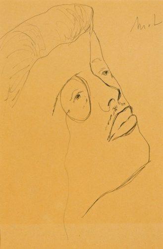 Mikhail Fedorovich Larionov - Tête de Serge Diaghilev