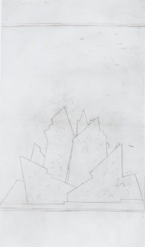 Natalia Sergeevna Goncharova - (1881-1962) - Constructivist Study - Pencil on paper