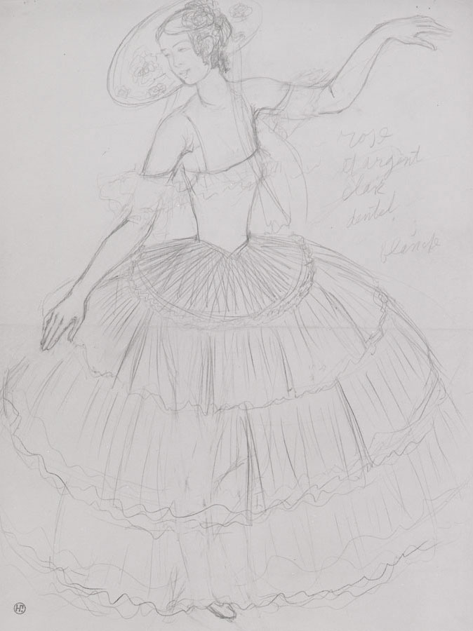 Natalia Sergeevna Goncharova - Costume Design for a female dancer