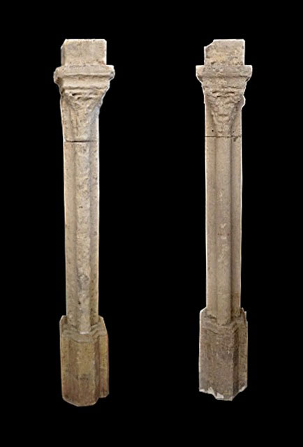 Northern France - 14th century Gothic Cloister - A Set of of Nine Columns - Limestone