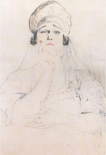 Philip Andreevich Maliavin - Portrait of Tamara Karsavina in a Kokoshnik