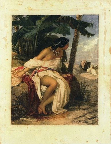 Stefano Ussi - (1822-1902) - The Return of the Sheik - Watercolour